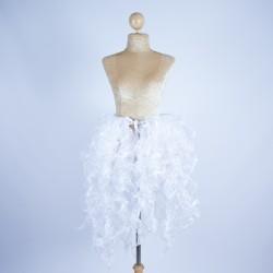 Organza Bustle Seaweed Skirt White