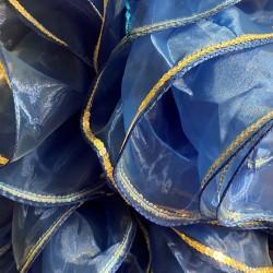 Organza Boa 250cm Royal Blue with Sequin Trim