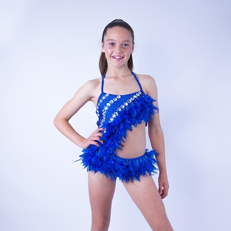 Feather Dress No 2 Royal Blue