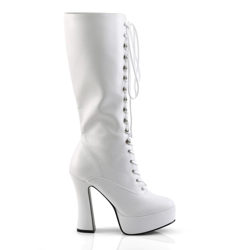SALE - Pleaser Electra 2020 Knee High Platform Boot White PU