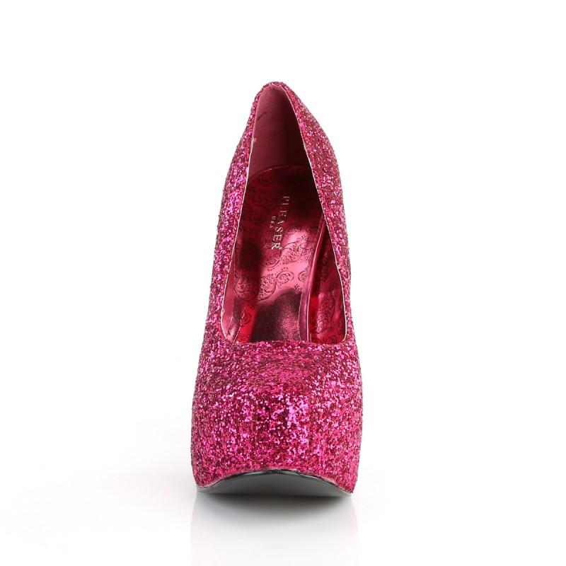 Teeze 06 Platform Shoe Pink Glitter Pink Label