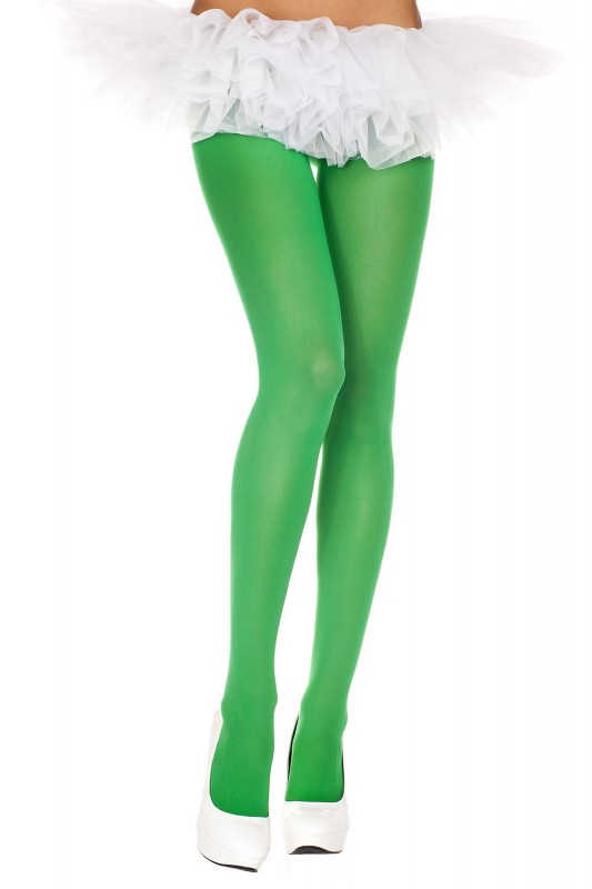 Music Legs Opaque Tights Kelly Green