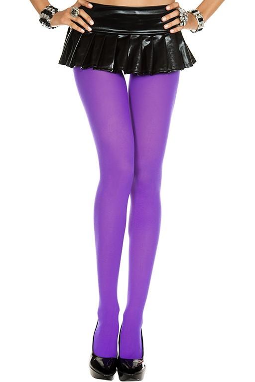 Music Legs Opaque Tights Purple