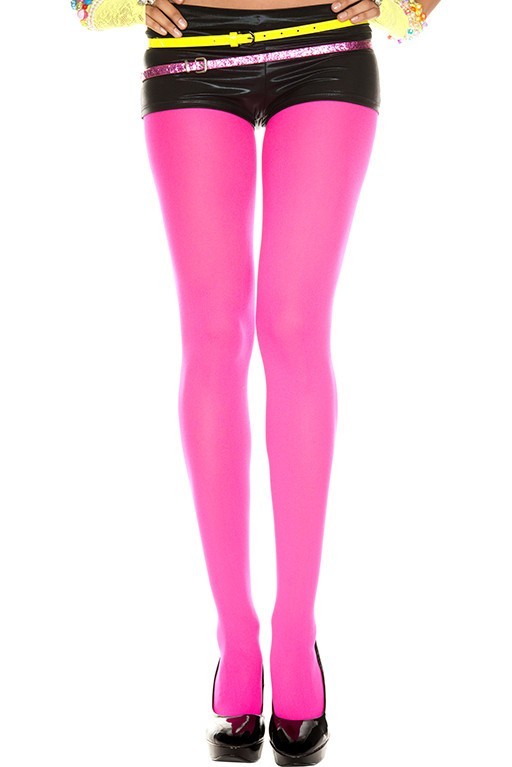Music Legs Opaque Tights Hot Pink