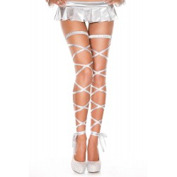 Music Legs Metallic Leg Wrap Silver