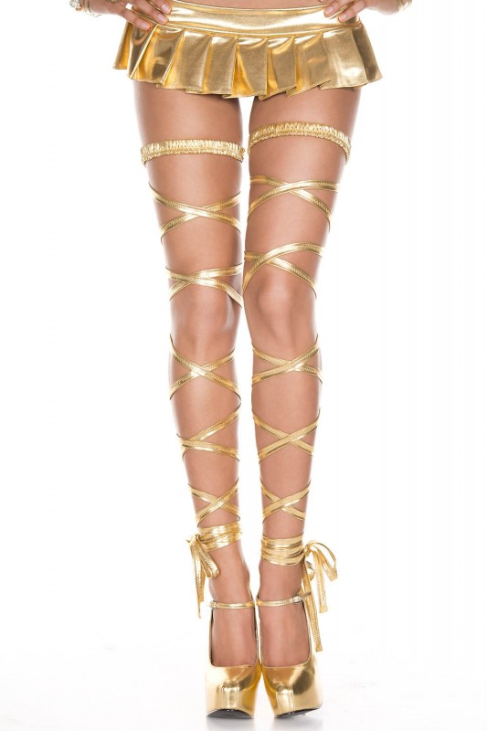 Music Legs Metallic Leg Wrap Gold