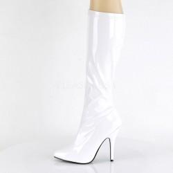SALE - Seduce 2000 Stretch Boot White Patent Pleaser