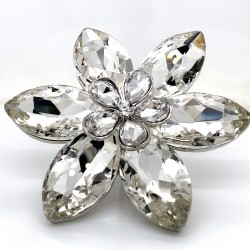 Clear Crystal Diamante Ring 04