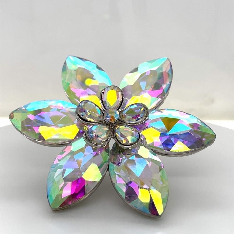 Aurora Borealis Crystal Diamante Ring 04