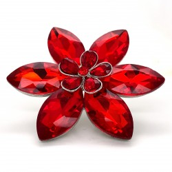 Red Crystal Diamante Ring 04