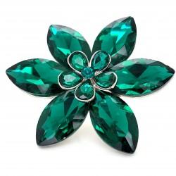 Emerald Green Crystal Diamante Ring 04