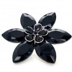 Black Crystal Diamante Ring 04