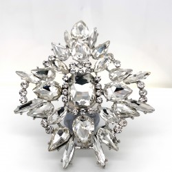 Clear Crystal Diamante Ring 09