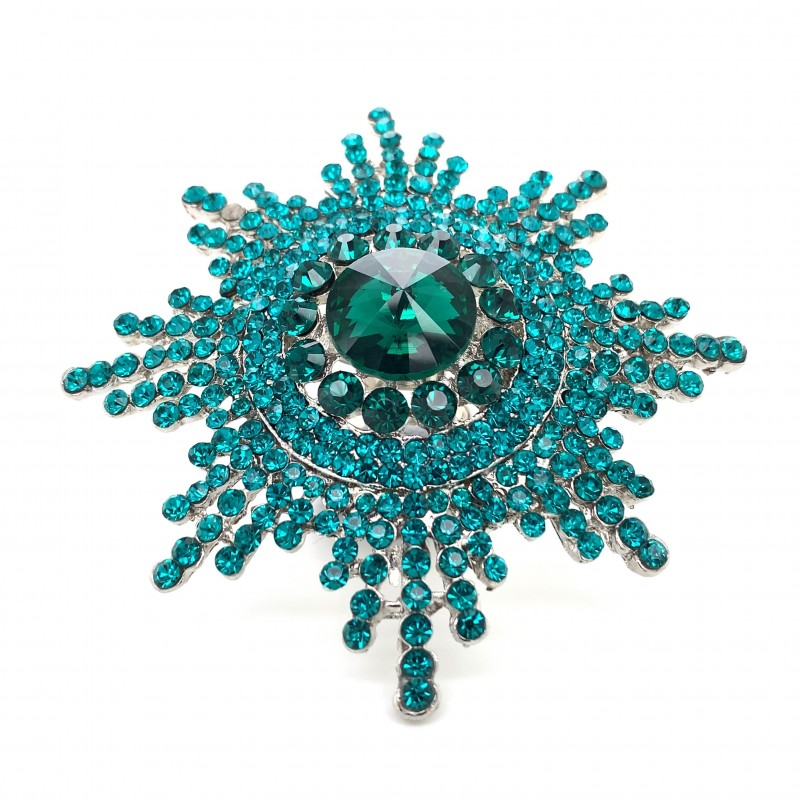 Emerald Green Crystal Diamante Ring 08