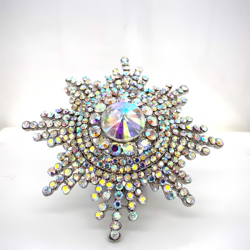 Aurora Borealis Crystal Diamante Ring 08