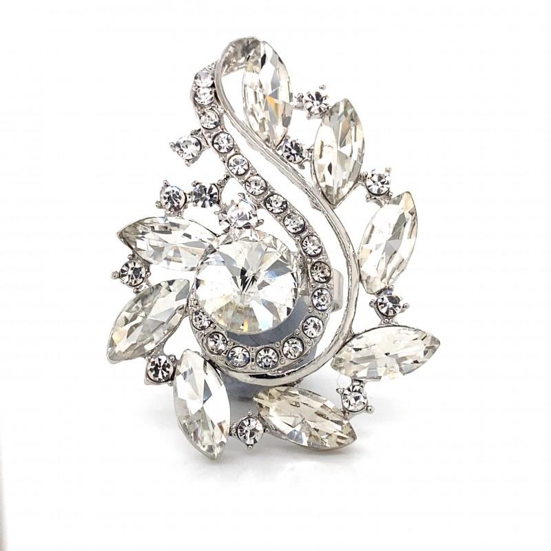 Aurora Borealis Crystal Diamante Ring 07