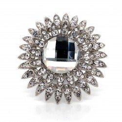 Clear Crystal Diamante Ring 11