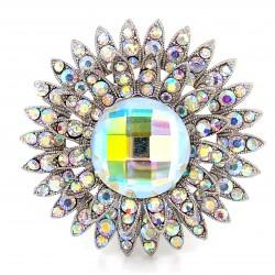 Aurora Borealis Crystal Diamante Ring 11