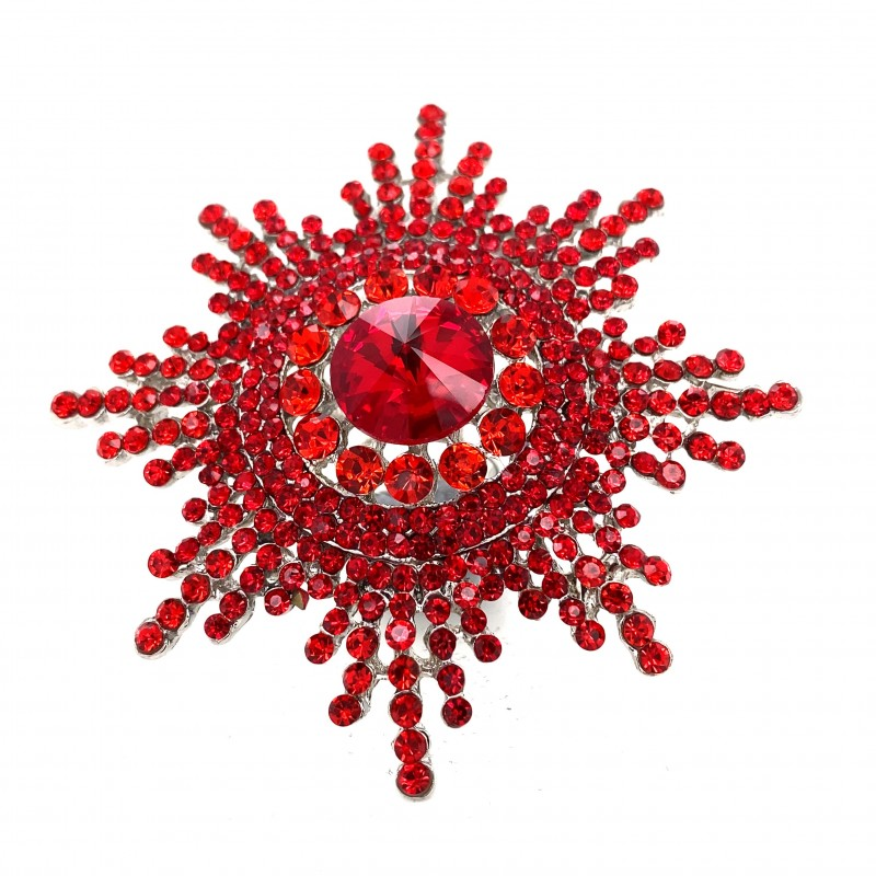 Red Crystal Diamante Ring 08