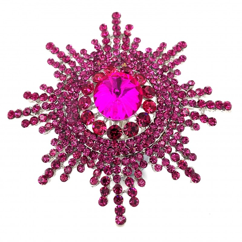 Pink Crystal Diamante Ring 08