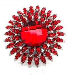 Red Crystal Diamante Ring 11