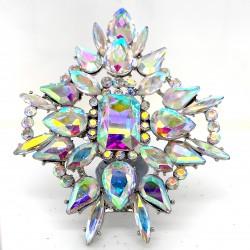 Aroura Borealis Crystal Diamante Ring 09