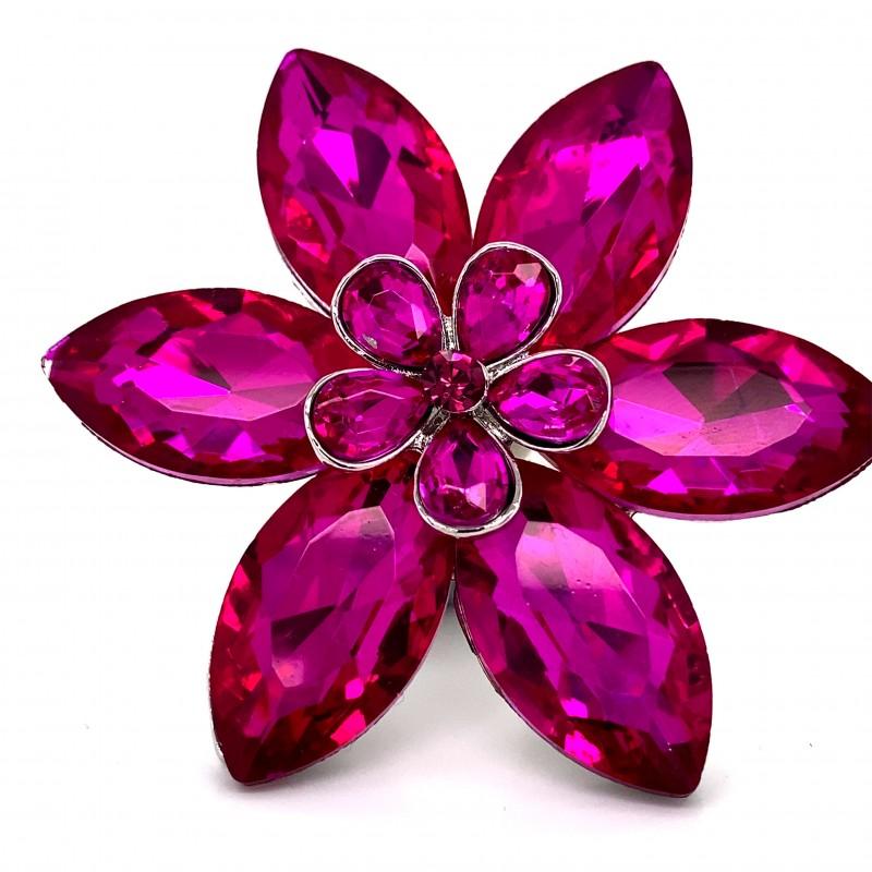 Pink Crystal Diamante Ring 04