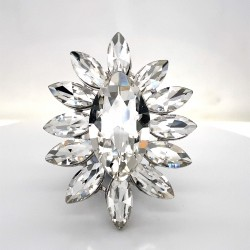 Clear Crystal Diamante Ring 6