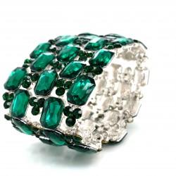 Emerald Green Crystal Diamante Bracelet No 2