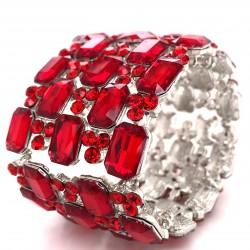 Red Crystal Diamante Bracelet No 2