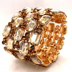 Gold Crystal Diamante Bracelet No 2