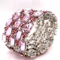 Light Pink Crystal Diamante Bracelet No 2