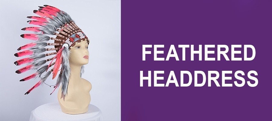 Feathered Headdress - Headwear - Accessories - House Of Priscilla