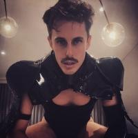 @dutchkiss_  in our  Black Gladiator Deluxe Shoulder Piece . #gladiator #shoulderpiece #costume #houseofpriscilla