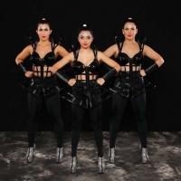 Custome made for dance school company #costume #houseofpriscilla #sydney #pvccroset #black #❤️