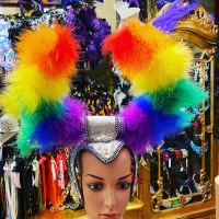 Today's spring special  Rainbow feather headpiece  $30.00 sale only  Phone order only 0292863023 #pride #fun #halloween #partytime #headpiece